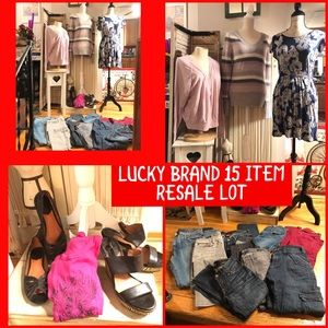 LUCKY BRAND 15 ITEM (JEANS, TOPS, ETC) RESALE LOT